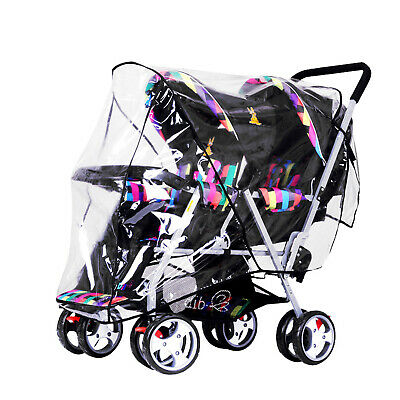 Chic Stroller Rain Cover Universal Pram Baby Infant Double Pushchair Wind Shield