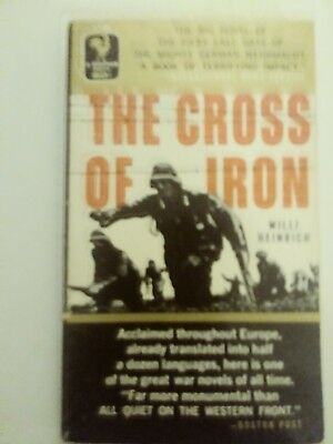 """""""The Cross of Iron"""", by Willi Heinrich, 1957 vintage paperback / WWII IN RUSSIA"""