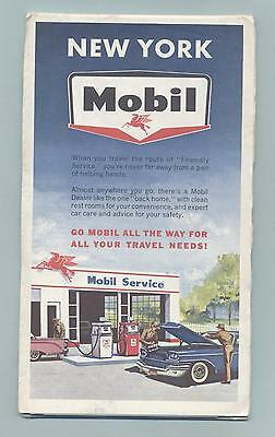 Old Road Map Mobil New York NY  1962 I believe