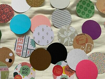 x20 Large CIRCLES - PAPER PUNCH/ PUNCHIES - CRAFT SCRAPBOOKING ASSORTED