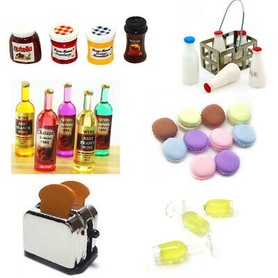 1:12 Doll House Miniature Kitchen Food Wine Accessories Decor For Kids Gift