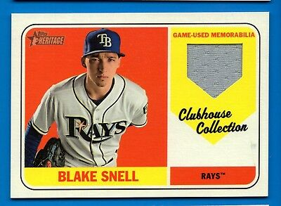2018 Topps Heritage High Number Ccr Bs Blake Snell Tampa Bay Rays