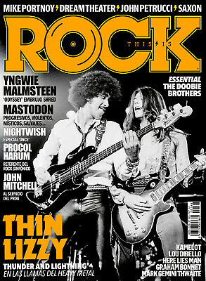 This Is Rock Magazine Revista Thin Lizzy Phil Lynott John Sykes 166 Abril 2018