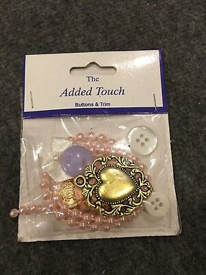 The Added Touch Buttons & Trim Westrim Peach Elegance Embellishment