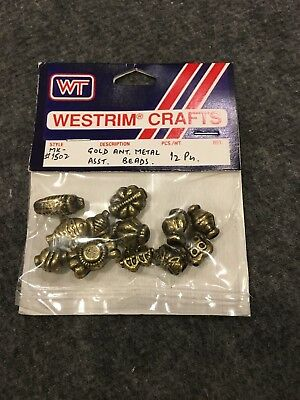 Beads Gold Antique Metal 12 pc Westrim
