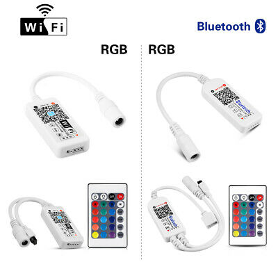 Bluetooth Wifi LED Controller + IR Remote For 5050 3528 RGB RGBW LED Strip Light