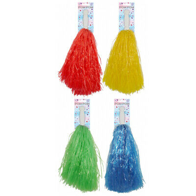 Unisex Kids Assorted Color Cheer Leader Pom Pom Fancy Party Supplies Accessory