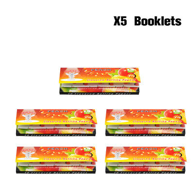 Hornet Peach Fruit Flavored Smoking Tobacco Rolling Papers 78*44MM 5Booklets