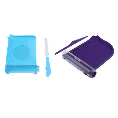 Purple Pill Counting Tray and Spatula Professional High Quality Purple Blue