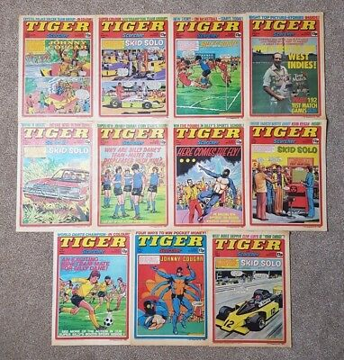 11 x Tiger and Scorcher Comics - February - May 1980 - Unbroken Run - Lot #14