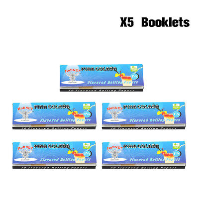 5 Packs Hornet PINA COLADA Flavored Smoking Cigarette Rolling Papers 78MM