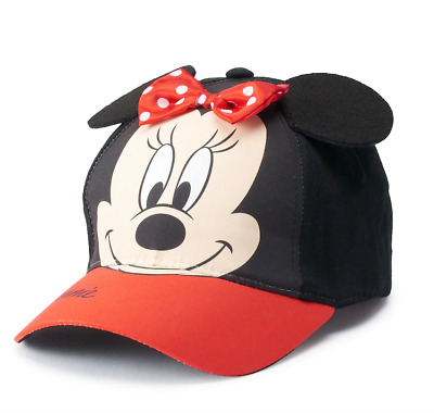 38328326db375 Disney Minnie Mouse Cap Toddler Girls Bow And Ears Baseball Hat New  Authentic