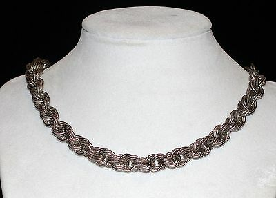Vintage Silver Plated Thick Heavy Chain Link Necklace