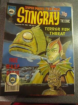 Stingray the Comic Issue 3 with free Badge Gerry Anderson