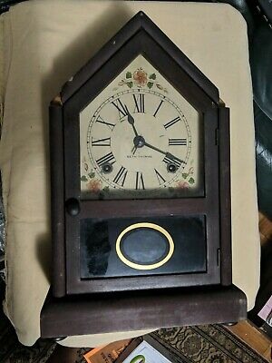 Antique SETH THOMAS Mantle Clock Steeple For Repairs FREE SHIPPING