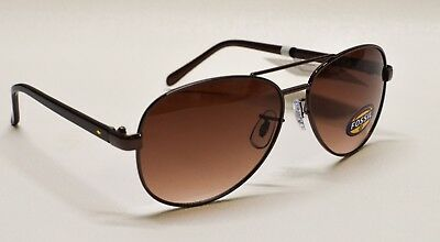 5622b468fe3d1 FOSSIL AVIATOR SUNGLASSES FW11 Women s Rose Gold Frame Brown Lens ...