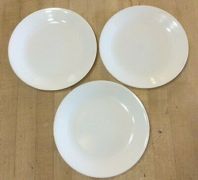 Corelle WINTER FROST WHITE Luncheon Plate 8 1/2 Inch Set of 3