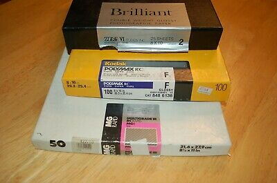 Lot of Kodak Poly contrast Photo Paper - , 8x10 Ilford zone VI