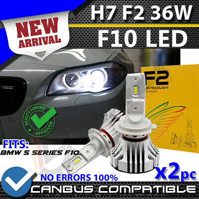 New F2 H7 Bmw F10 Canbus Error Free White Led Kit 6500K Accurate Beam Pattern Uk