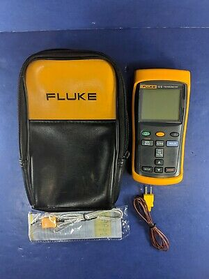 Fluke 52 II Thermometer, Excellent, Screen Protector, Soft Case, More