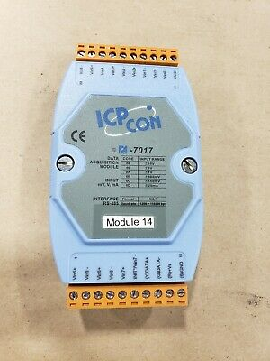 ICP CON I-7017 Data Acquisition Module 8 Channel Analog #4D42TK