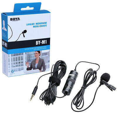 Omnidirectional Lavalier Microphone Collar Clip Lapel DSLR Camcorders For Canon