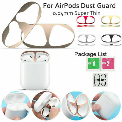 Metal Dust Guard Protector Dust-proof Sticker Skin for Apple Airpods Earphone OZ