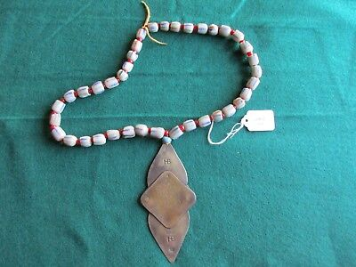 Hudson Bay Trade Silver Gorget, Native American Fur Trade Necklace    Ott-02637