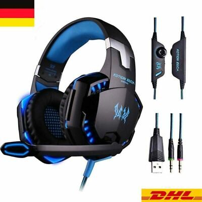 PS4 Gaming Headset G2000 Kopfhörer mit Mikrofon 3.5mm On Ear Surround Sound PC