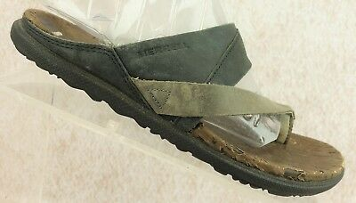5b5ad0be4cce Merrell Select Move Leather Straps Slip On Flip Flop Thongs Shoes Women s  Size 6