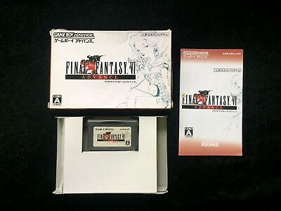 Final fantasy VI Nintendo GBA Video Game Boy Advance Japan Tested and Working