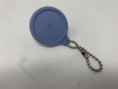 Vintage Tupperware Mini Bowl Keychain white/ blue seal with removable  B