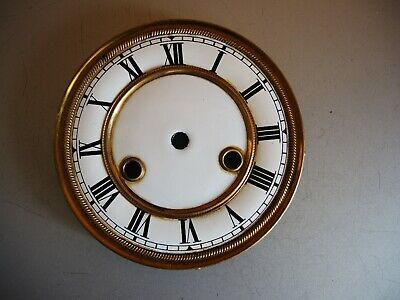 Antique German wall clock Gustav Becker JUNGHANS 2 part Porcelain DIAL Mount GB