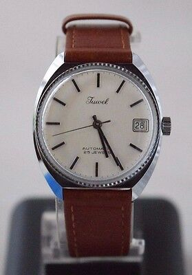 Vintage Collectible JUWEL Automatic 25 Jewels Wrist Watch Never Used Swiss Time