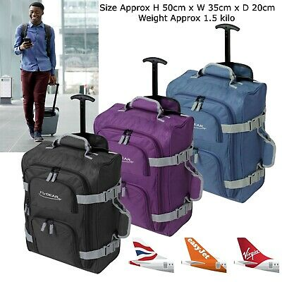 Lightweight Carry On Cabin Hand Luggage Suitcase Wheeled Trolley Travel Bag Case