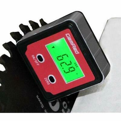 Digital Protractor Angle Finder Level Gauge Bevel Backlight Magnetic Base Aid