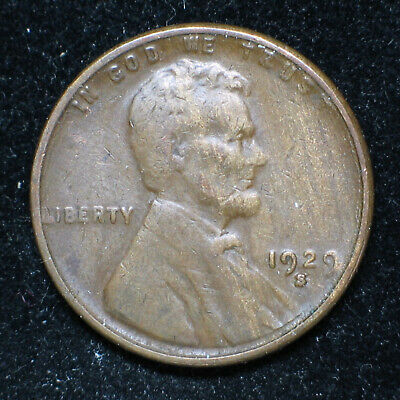 1929 S Lincoln Wheat Cent  ** Very Fine  VF **  (item #1091)