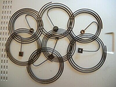 7 x ANTIQUE ORIGINAL WALL CLOCK GUSTAV BECKER JUNGHANS HAC GONG WIRE Springs GB