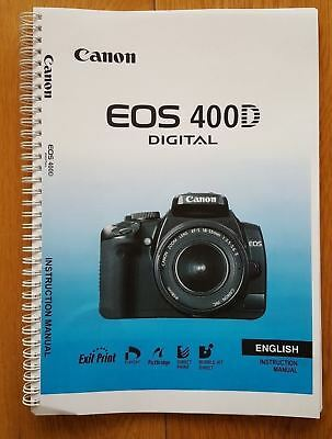 ~PRINTED~ Canon EOS 400D  User guide Instruction manual   A5
