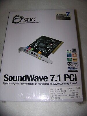 SIIG SOUNDWAVE 7.1 PCI DESCARGAR CONTROLADOR