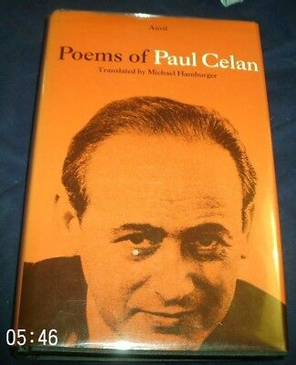 Poems Of Paul Celan Michael Hamburger Anvil First Edition