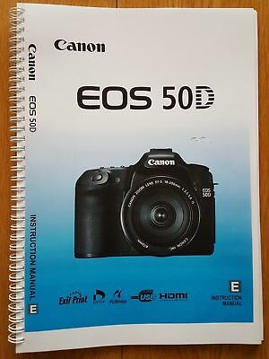 ~PRINTED~ Canon EOS 50D User guide Instruction manual  A5