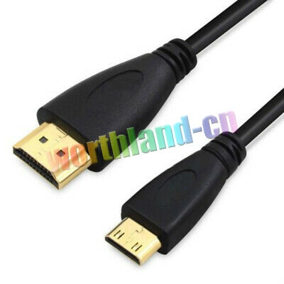 New Premium Mini-HDMI Male to HDMI Male 1080p Cable V1.4 Type A to C HD Quality