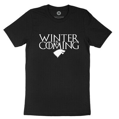 Winter is Coming T-Shirts Game of Thrones Shirt Stark Snow Mens Unisex Top Tee