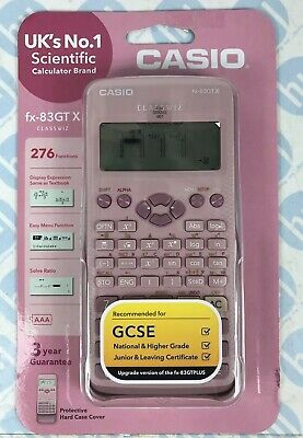Casio FX83GTX Pink GCSE Scientific Calculator with 276 Functions-Auto Power-Off