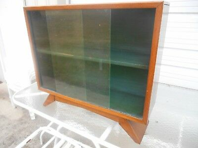Awesome 1930's Art Deco Petite Bookcase China Cabinet w Sliding Glass Doors