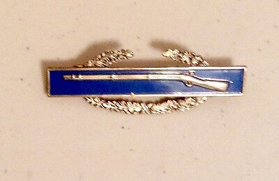 Vintage COMBAT INFANTRYMAN BADGE - WWII Sterling US Army Rifle Post Pin
