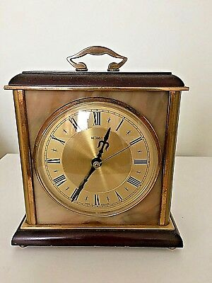 Vintage Wood & Marble, Metamec Quartz Carriage Clock