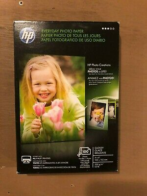 HP CR759A Everyday Glossy Photo Paper 53 lbs 4 x 6 100 Sheets/Pack