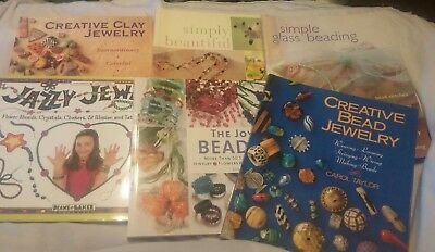 6 Jewelry Beading books various craft types, all kinds projects, BEAD EDUCATION